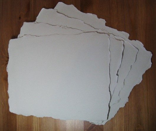 Deckled handmade paper