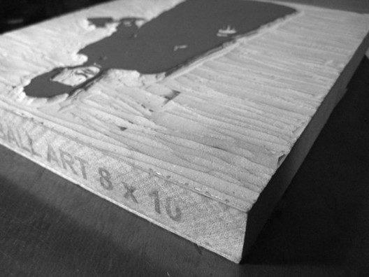 Carved Linoleum block ready