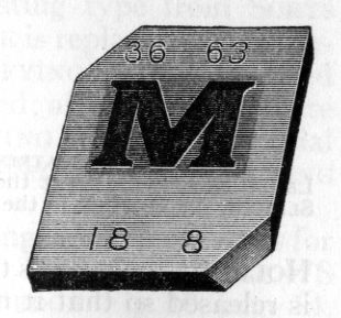 Monotype Display (flat) matrix