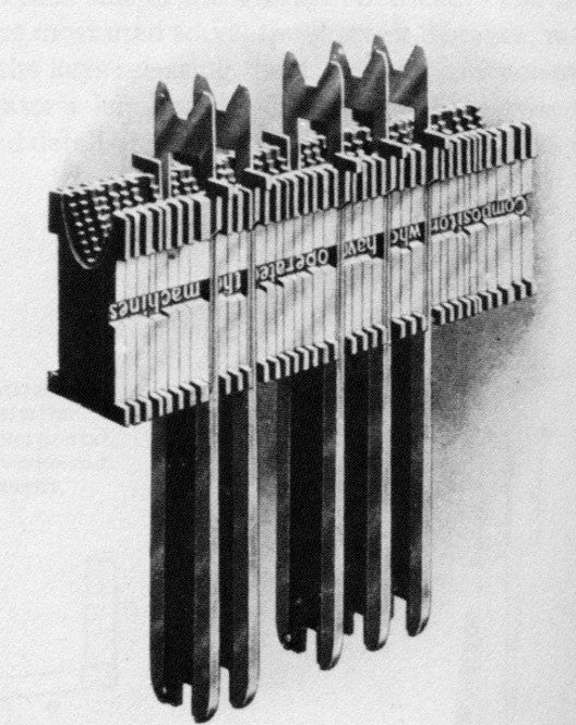 Linotype spacebands