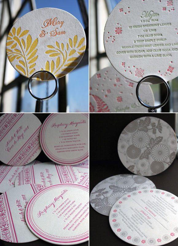 Letterpress coasters - Bella Figura