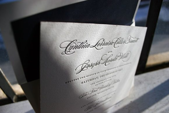 Letterpress invitation - Bella Figura