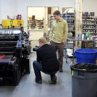 Luke Walker Photography visits Bella Figura's letterpress shop