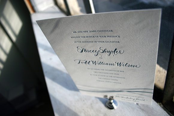 Letterpress calligraphy invitation - the Riviera - by Bella Figura