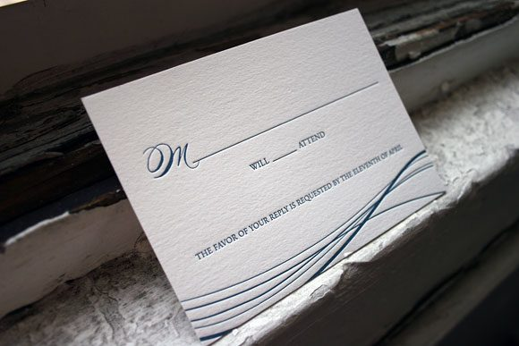 Letterpress reply card - the Riviera - by Bella Figura