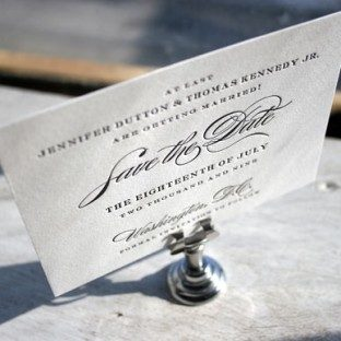 Deveril letterpress save the date - Bella Figura