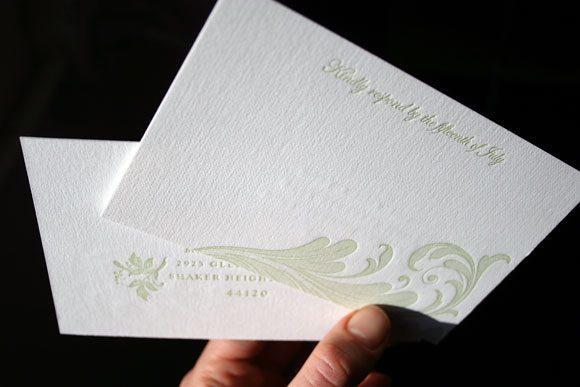Letterpress reply postcards - 1 color - Bella Figura