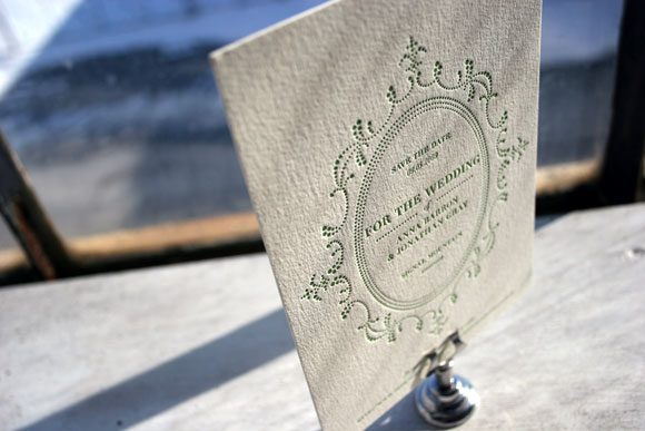 Letterpress save the date - Bella Figura