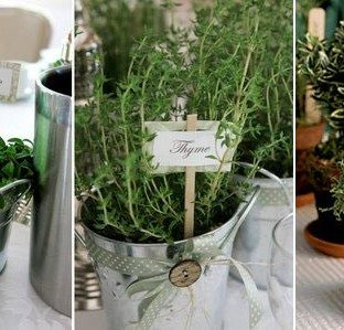 Eco wedding reception favors