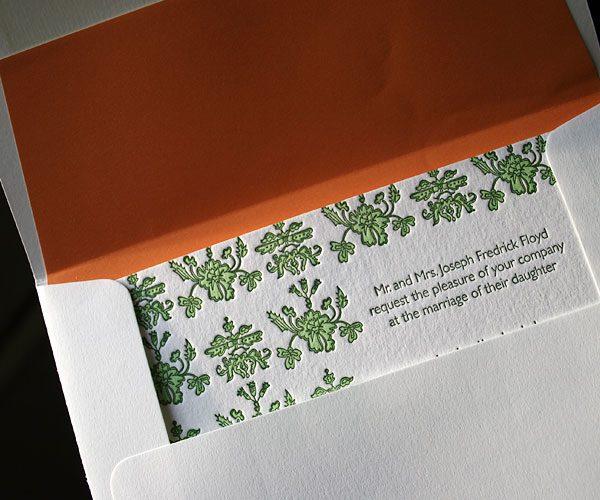letterpress wedding invitation - Bella Figura