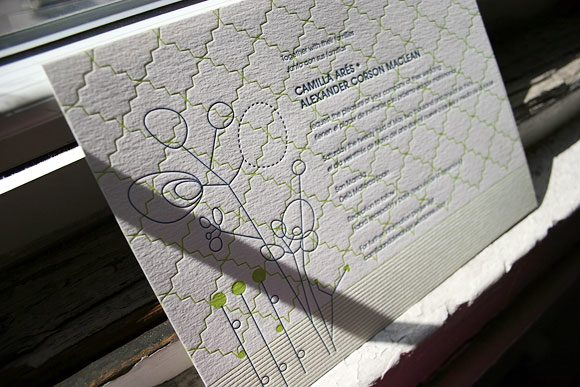 Seasonal letterpress wedding invitations - Bella Figura
