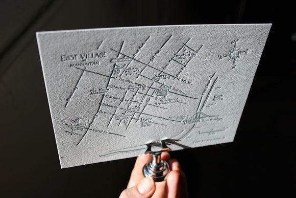 Custom Manhatten letterpress wedding suite - Bella Figura