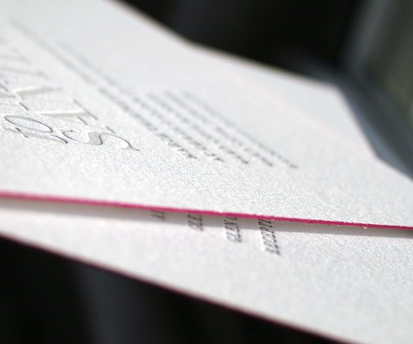 Letterpress wedding invitations - Bella Figura