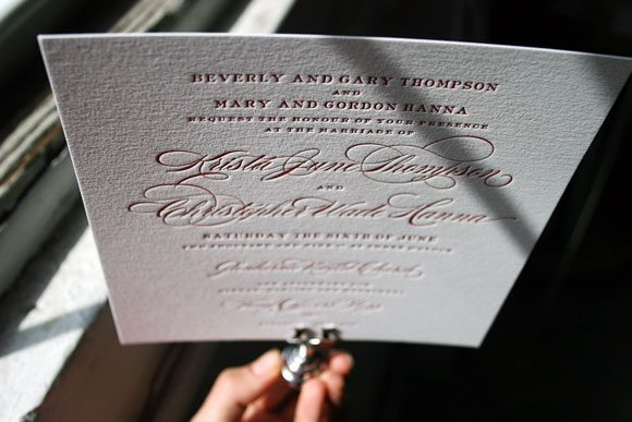 Deveril Letterpress Wedding Invitation