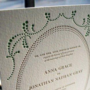 Cartoccio Letterpress Wedding Invitation