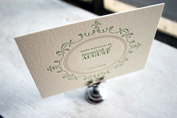 Cartoccio Letterpress Reply Card
