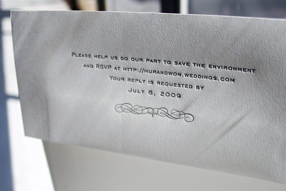 RSVP Info on Envelope Flap