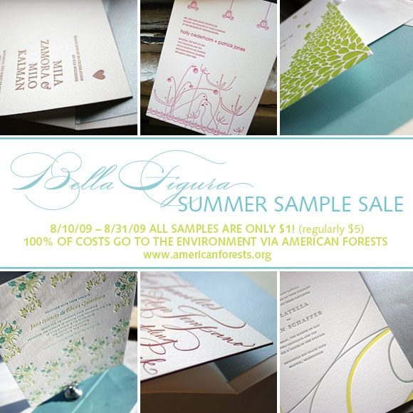 Letterpress Sample Sale to Benefit American Forests