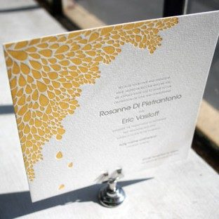 Dewdrop Letterpress Wedding Invitation by Bella Figura
