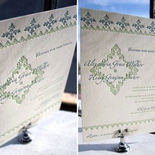 Sonnet Letterpress Wedding Invitation