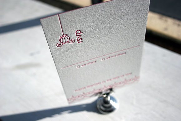 Birds Letterpress Reply Card
