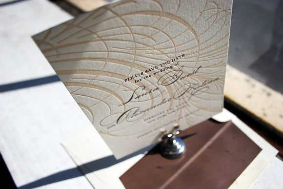 Guild Letterpress Save the Date by Bella Figura