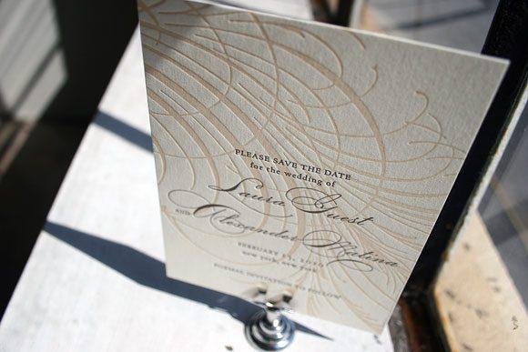 Guild Letterpress Save the Date by Bella Figura