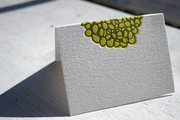 Joyful Yarrow Letterpress Place Card - Bella Figura