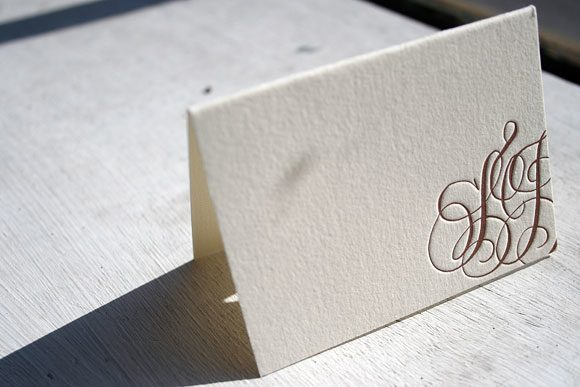 Calligraphy Letterpress Place Card - Bella Figura