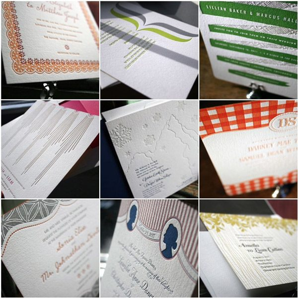Letterpress Invitations by Bella Figura