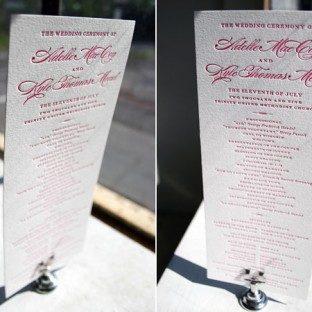 Deveril Letterpress Wedding Ceremony Program by Bella Figura
