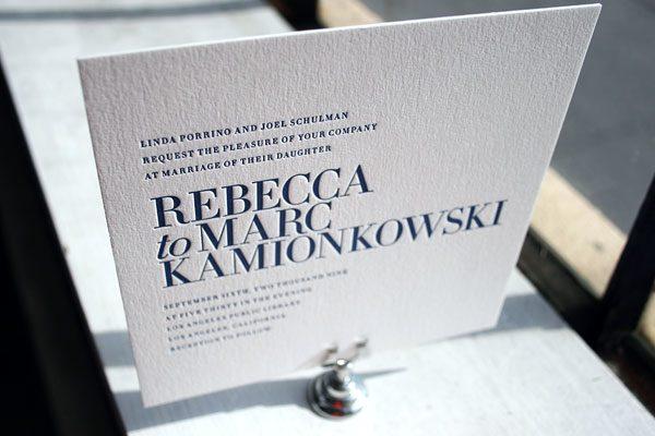 Irving Letterpress Wedding Invitations by Bella Figura