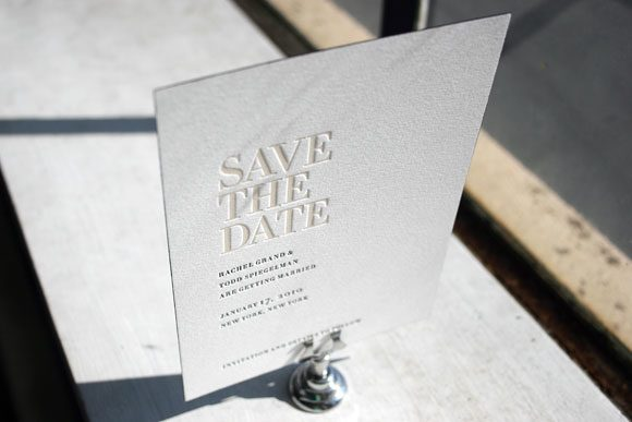Irving Letterpress Save the Date by Bella Figura
