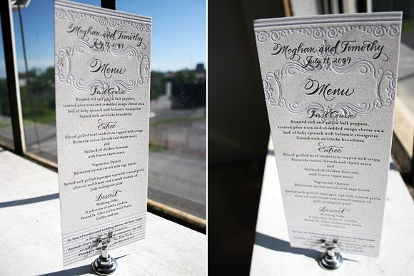 Letterpress Dinner Menu by Bella Figura