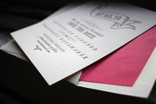 Bradford Letterpress Save the Date by Bella Figura
