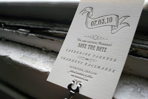 Bradford Letterpress Save the Date by Bella Figura