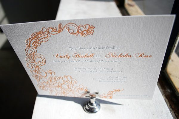 Letterpress Wedding Invitations by Bella Figura