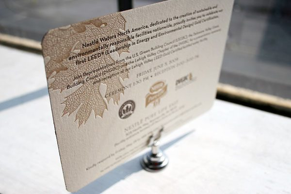 Custom Letterpress Invitations by Bella Figura