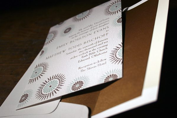 Soleil Letterpress Wedding Invitation by Bella Figura""