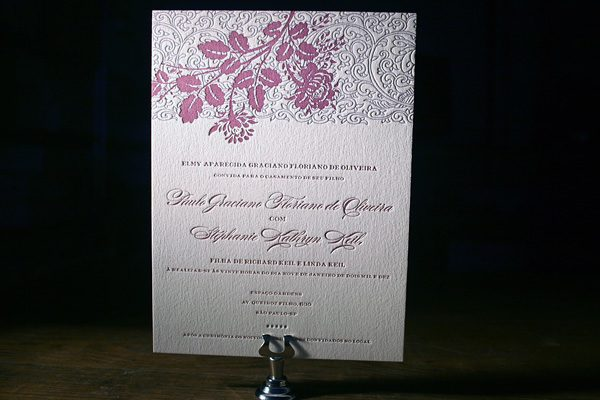 Tuileries Letterpress Invitations by Bella Figura