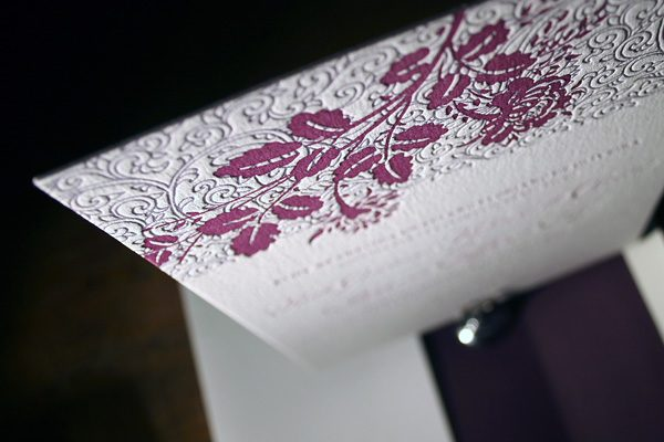 Tuileries Letterpress Invitations by Bella Figura