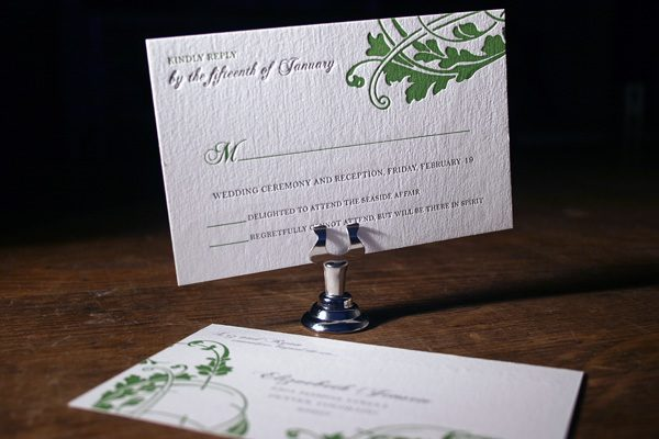Vignette Letterpress Invitations by Bella Figura