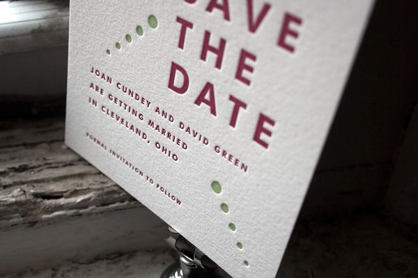 Letterpress Save the Dates by Bella Figura