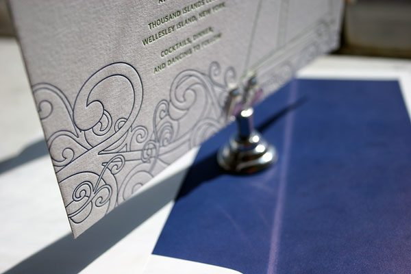 Letterpress Invitations with Belly Band from Bella Figura