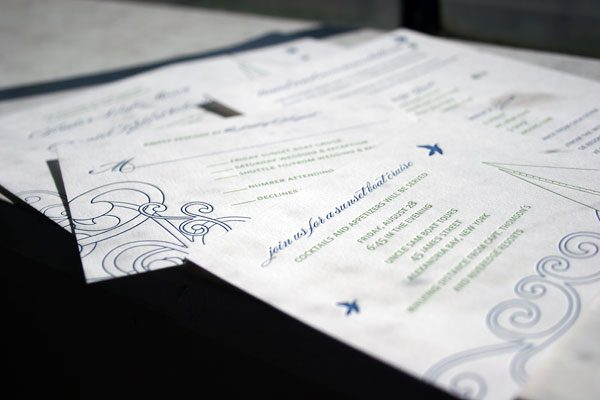 Letterpress Wedding Invitation Suite by Bella Figura