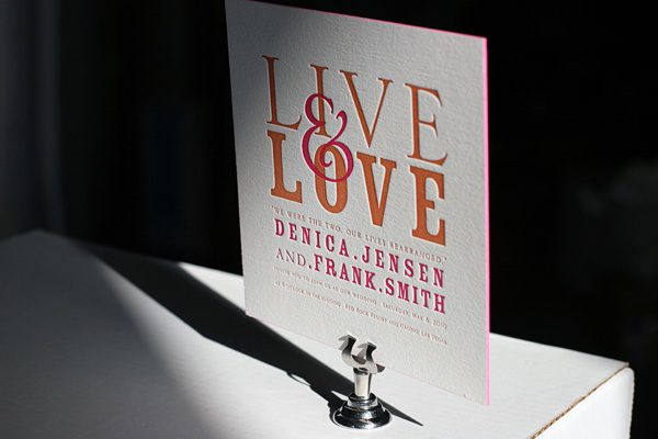 Anthology Letterpress Wedding Invitations