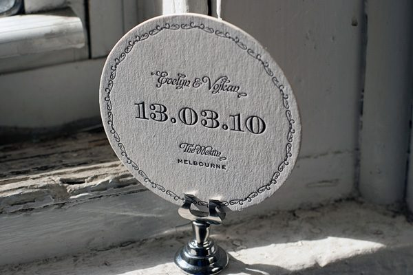 Ashwell Letterpress Coasters by Bella Figura