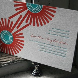 Joy Letterpress Wedding Invitations