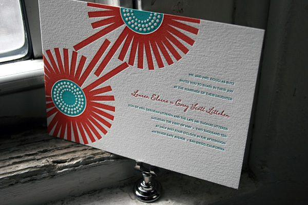 Joy Letterpress Wedding Invitations