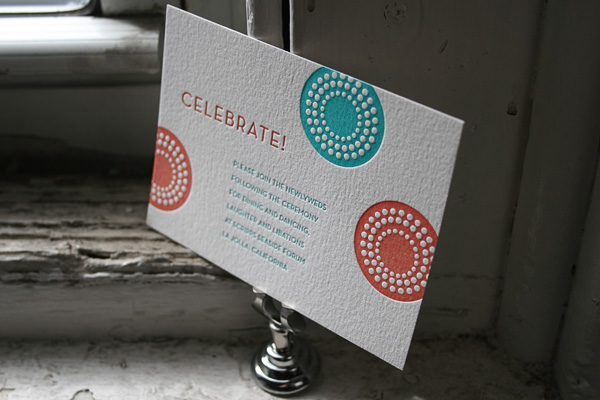 Letterpress Rehearsal Dinner Card